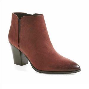 Franco Sarto Bordeaux leather Agenda booties